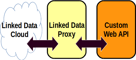 Linked Open Data built from a custom web API